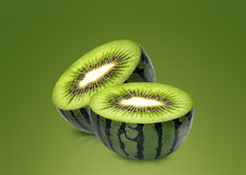 Water melon and kiwi inside. Ideal for mix juice Royalty Free Stock Photos