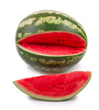 Water-melon is knifed on a white background Stock Image