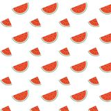 Water melon seamless pattern. The art of sweet delicious fruit theme looks yummy. Water melon seamless pattern vector design. The art of sweet delicious fruit Stock Image