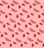 Water Melon Seamless Pattern Striped. Vector Illustration Royalty Free Stock Images