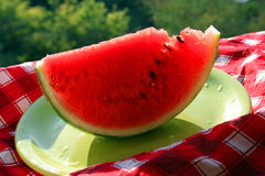 Water melon with seeds Royalty Free Stock Photo