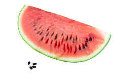 Water melon and seeds isolated on white background Stock Image