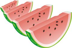 Water-melon segment Royalty Free Stock Images