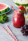 Water melon smoothie Stock Photo