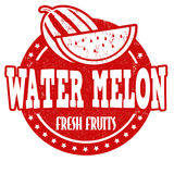 Water melon stamp Royalty Free Stock Images