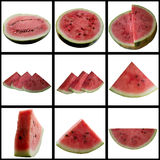 Water-melon on a white background. Baccate background berry color coolness culinary feed freshness fruit royalty free stock photography