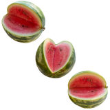 Water-melon on a white background. Royalty Free Stock Photos