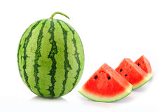 Water melon  on white background Royalty Free Stock Photos