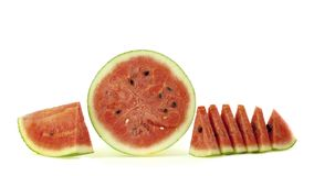 Water melon  on white background Royalty Free Stock Images