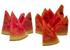 Water melon on white background royalty free stock image