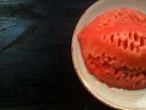 Water melone on a plate Royalty Free Stock Photography