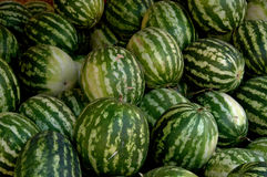 Water Melons at Market, Moulay Idriss Zerhoun, Morocco Stock Images