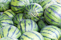 Water melons sold on an outside asian market in Beijing Stock Photography