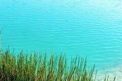 Water met rimpelingen op een vijver Stock Fotografie