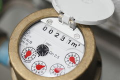 Water meter. A macro shot of a  water meter Royalty Free Stock Photos