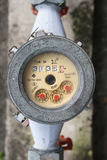 WATER METER. Meter of the water and metal pipes , Format Thailand stock photos