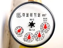 Water meter 2012 Royalty Free Stock Photography
