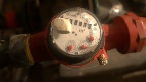 Water meter in the basement stock video