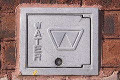 Water meter cover Royalty Free Stock Photos