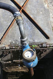 Water meter. Meter at fresh water supply line royalty free stock photography