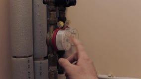 Water meter at home work stock video