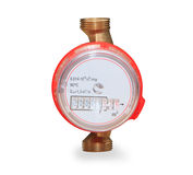 Water meter isolated on white background Royalty Free Stock Photography