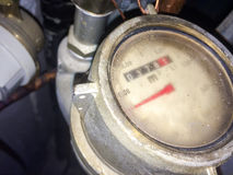 Close up of a water meter Royalty Free Stock Photography