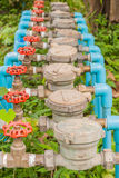 Water Meter and Red Valve. In the hospital Stock Image