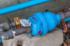 Water meter and water pipe Stock Image