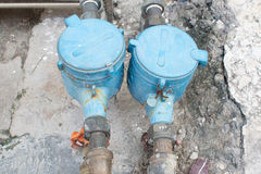 Water-meters Stock Photography
