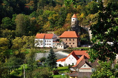 Water mill. An old water mill on the river in the South Bohemian stock photo