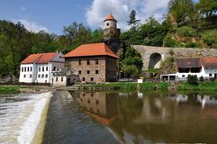 Water mill. An old water mill on the river in the South Bohemian royalty free stock photo