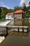 Water mill. An old water mill on the river in the South Bohemian royalty free stock image