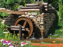 Water mill. In summer, Russia Stock Photo