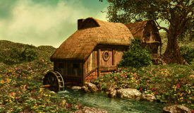 The Water Mill stock illustration