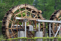 Water-mill. Wooden water-mill royalty free stock photo