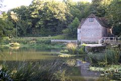 The Water Mill. A watermill in the Dorset countryside, England royalty free stock photo