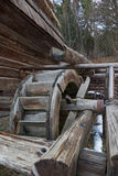 Water mill. Old wooden water mill in Ukraine Royalty Free Stock Images