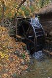 Water mill and Autumn color at Namsangol traditional folk village, Seoul, South Korea - NOVEMBER 2013 Stock Image