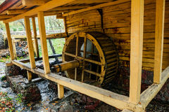 Water Mill in the autumn forest Royalty Free Stock Photos