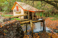 Water Mill in the autumn forest Royalty Free Stock Images