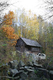 Water mill - Autumn Landscape. Beautiful vivid nature Royalty Free Stock Images