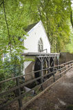 Water mill with blade wheel in forest Royalty Free Stock Photography