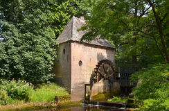Water mill at castle Hackfort. Royalty Free Stock Photos