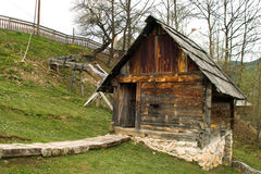 Water Mill. From the First Half of 19th Century in Zlatibor,s Valley , Srbija in the Autumn royalty free stock photography