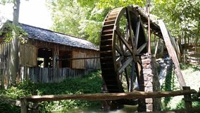 Water Mill at Georgia Mountain Fairgrounds in Hiawasse Georgia. Water Mill at Georgia Mountain Fairgrounds in Hiawassee, Georgia royalty free stock photos