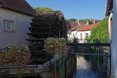 Crecy la chapelle village in ÃŽle de France stock photo