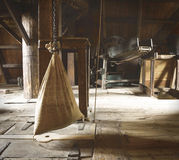 Water Mill - hessian bag of grain/flour Royalty Free Stock Photos