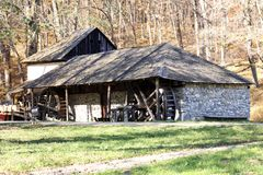 Water mill house royalty free stock photography