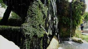 Water mill on the La Sorgue river in 4k